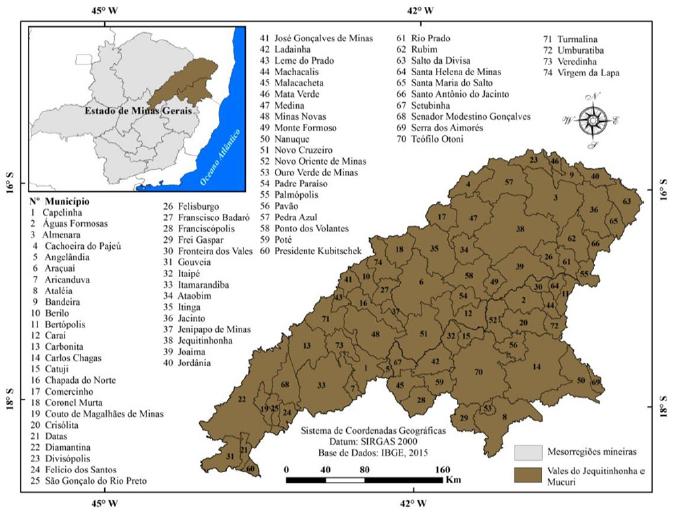 Municípios dos vales do Jequitinhonha e Mucuri