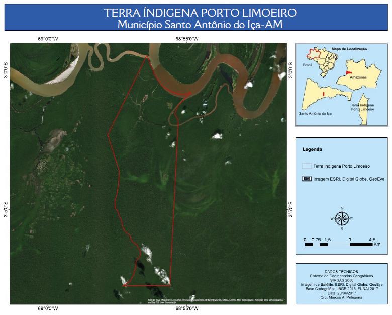 − Representação cartográfica da terra indígena homologada