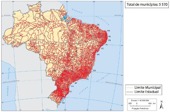 - Brasil: divisão municipal