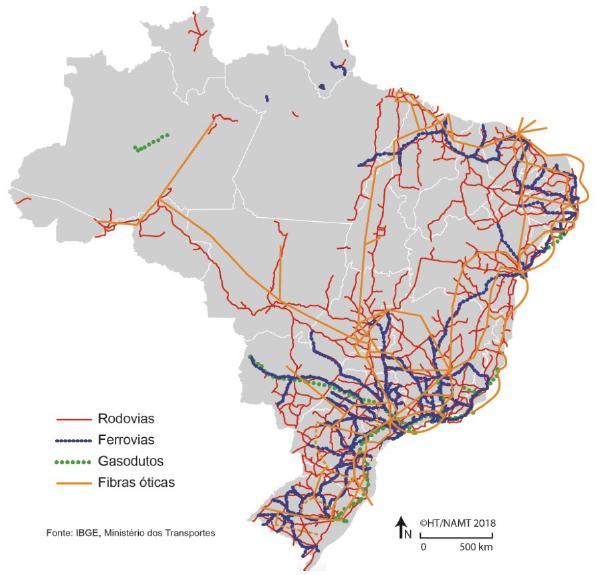 - Brasil: redes de transporte - 2014
