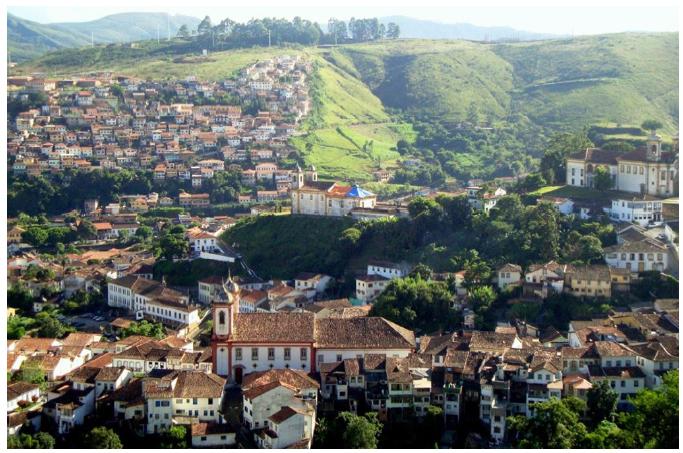 Paisaje de Ouro Preto, Brasil