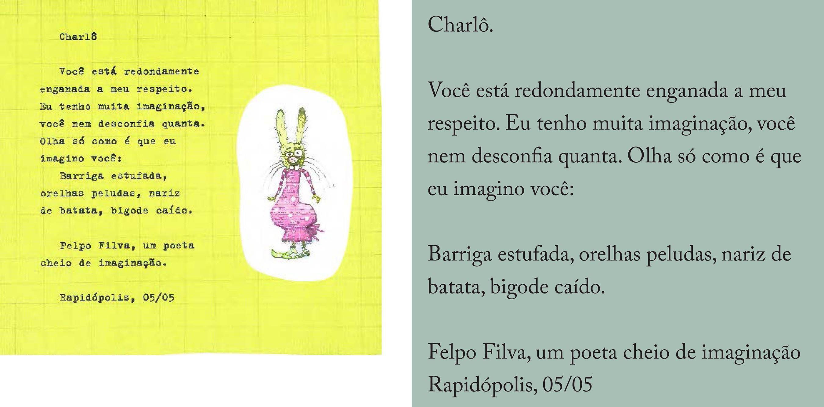 Reprodução da carta de Felpo (FURNARI, 2006, p. 18)