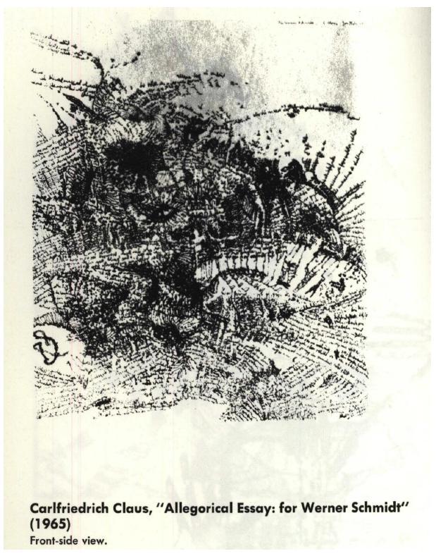 """""""Allegorical Essay: for Werner Schimidt"""" (1965)"""