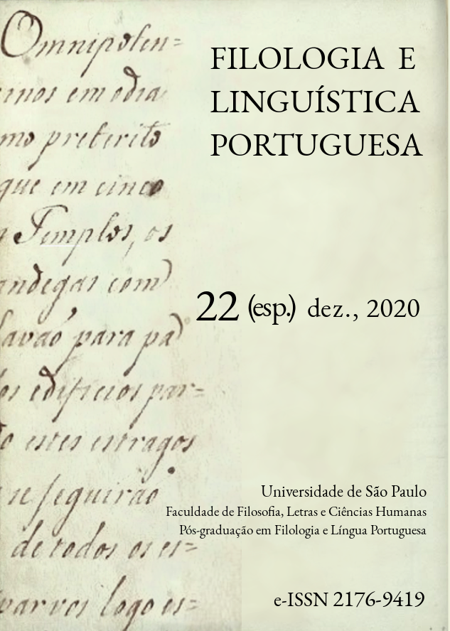 Visualizar v. 22 n. Especial (2020): Filologia, etimologia e linguística histórica