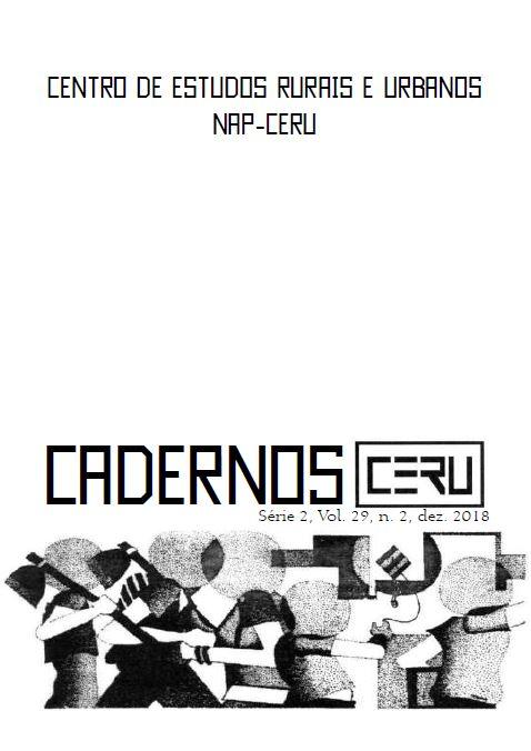 Visualizar v. 29 n. 2 (2018): Cadernos CERU