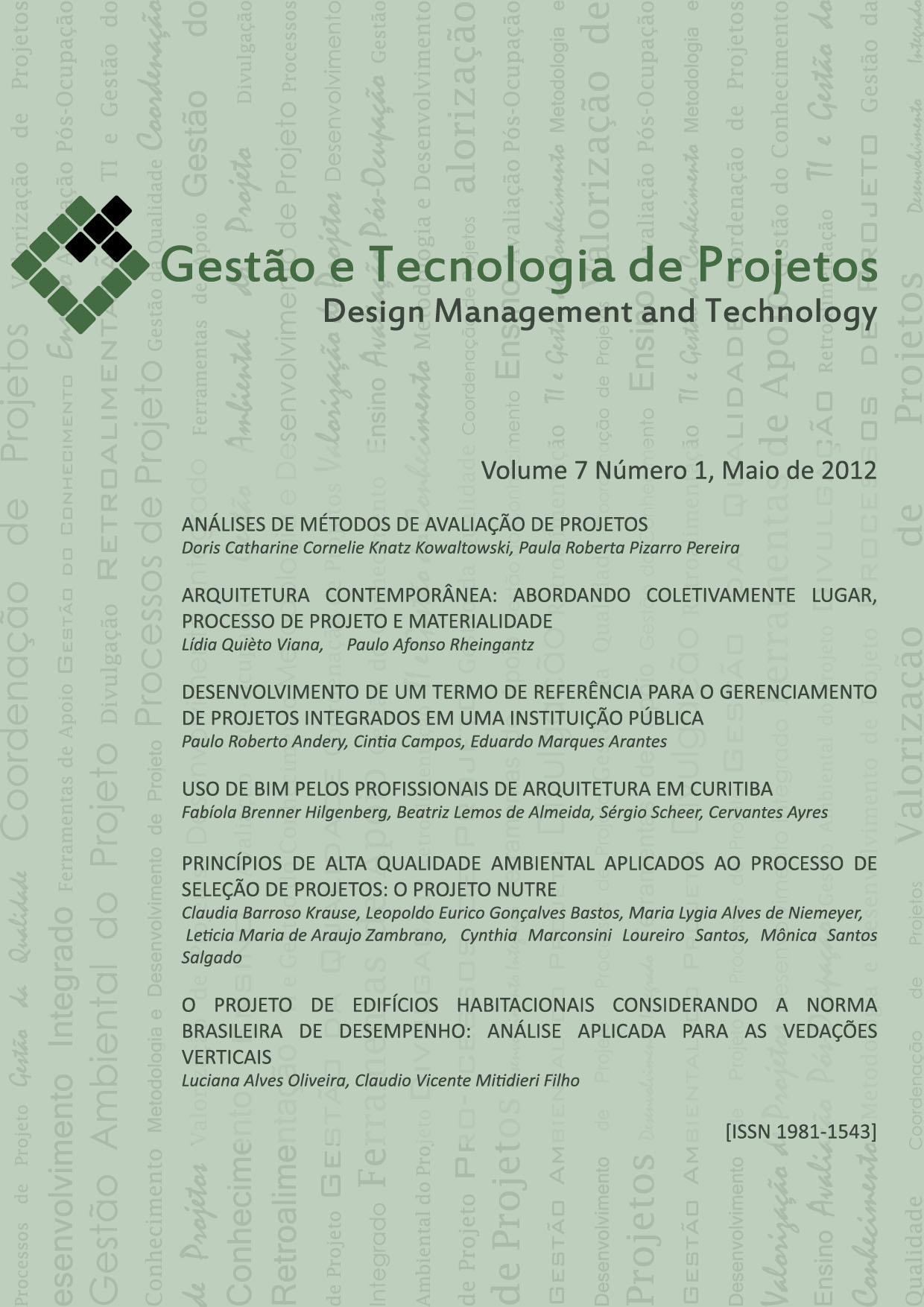 Visualizar v. 7 n. 1 (2012)