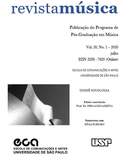 Visualizar v. 20 n. 1 (2020): Dossiê Sonologia