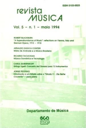 Visualizar v. 5 n. 1 (1994)