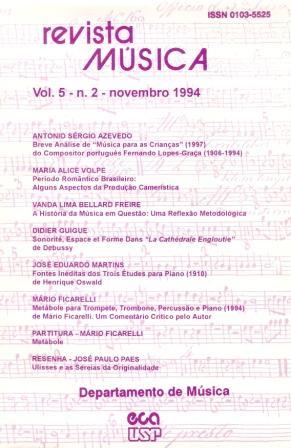 Visualizar v. 5 n. 2 (1994)
