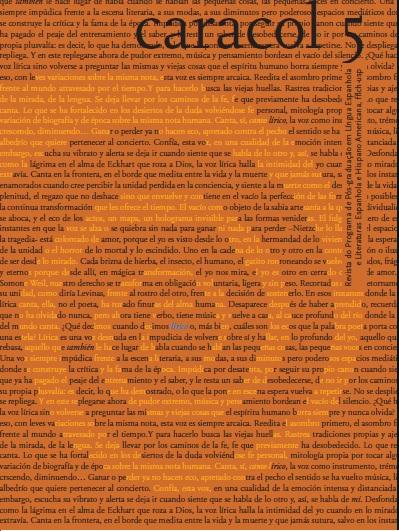 Visualizar n. 5: (jan-jun 2013) Dossiê Poesia Hispano-americana