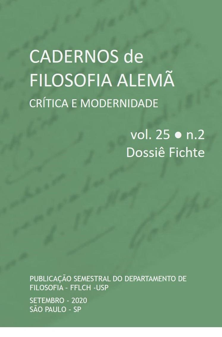 Visualizar v. 25 n. 2 (2020): Edição especial: Dossiê Fichte