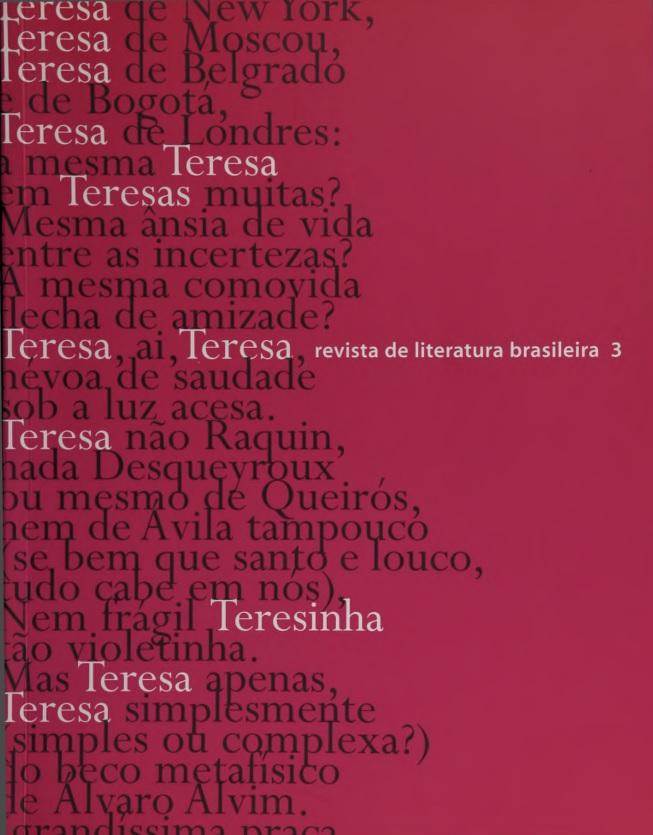 Visualizar n. 3 (2002): Teresa n. 3
