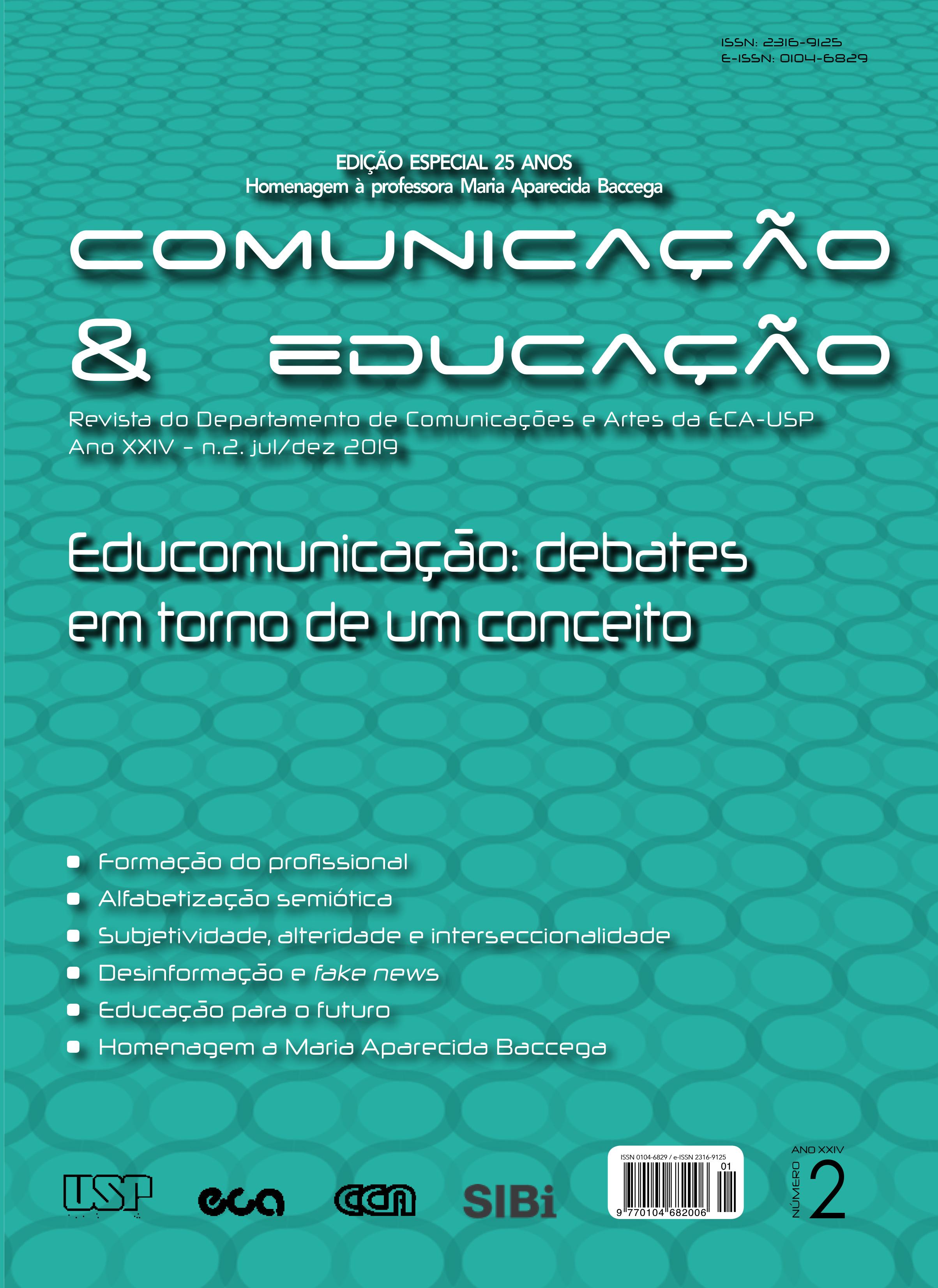 Visualizar v. 24 n. 2 (2019): Edição especial 25 anos - Homenagem à professora Maria Aparecida Baccega
