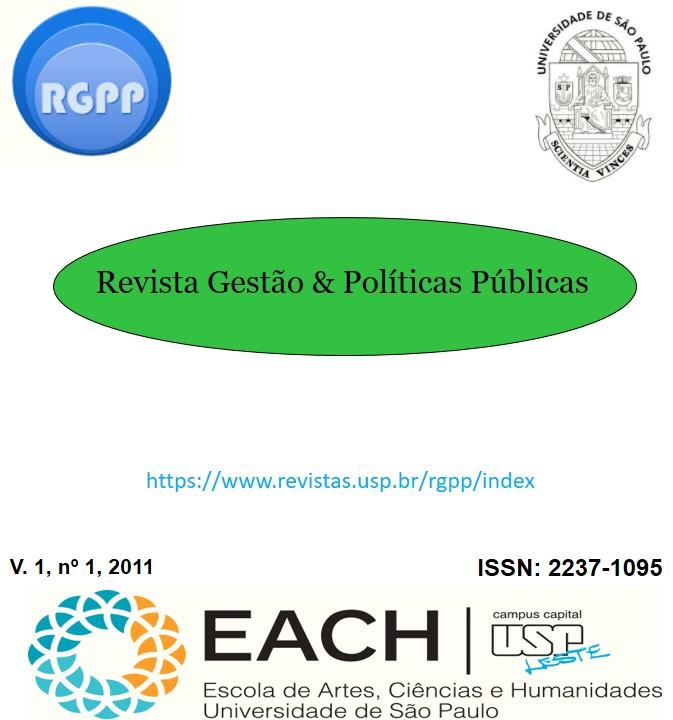 Visualizar v. 1 n. 1 (2011): Revista Gestão & Políticas Públicas