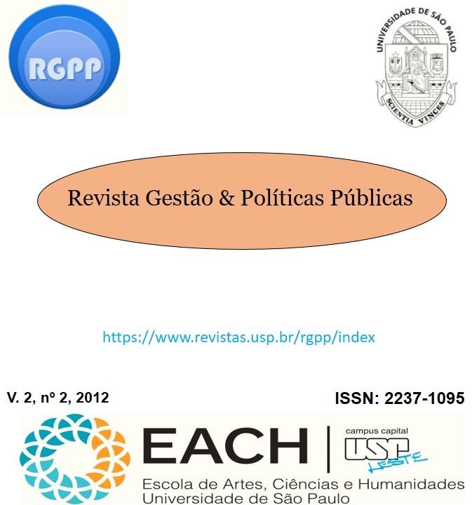 Visualizar v. 2 n. 2 (2012): Revista Gestão & Políticas Públicas
