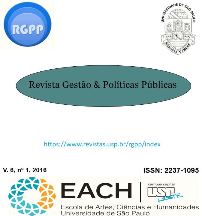 Visualizar v. 6 n. 1 (2016): Revista Gestão & Políticas Públicas