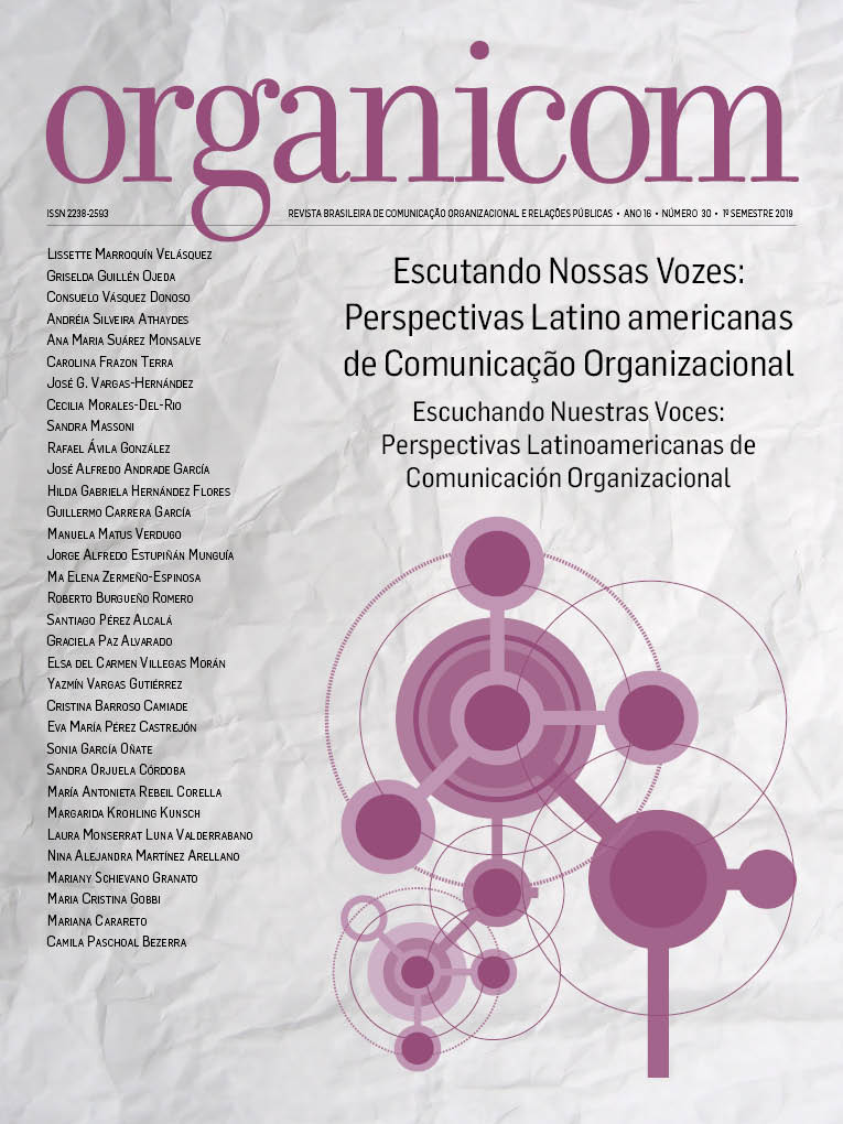 Visualizar v. 16 n. 30 (2019): Escutando Nossas Vozes: Perspectivas Latino americanas de Comunicação Organizacional