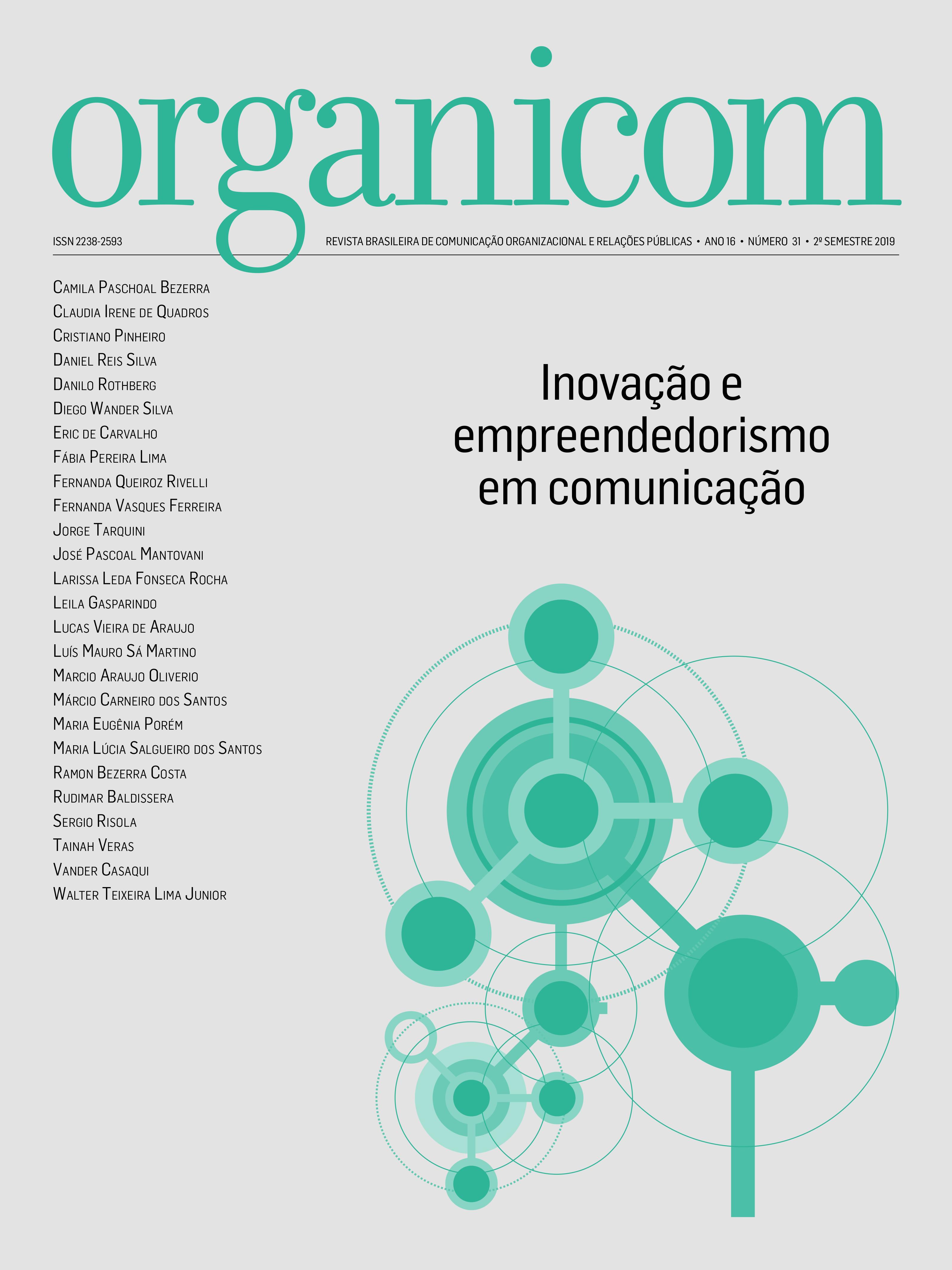 Visualizar v. 16 n. 31 (2019): Inovação e empreendedorismo em comunicação