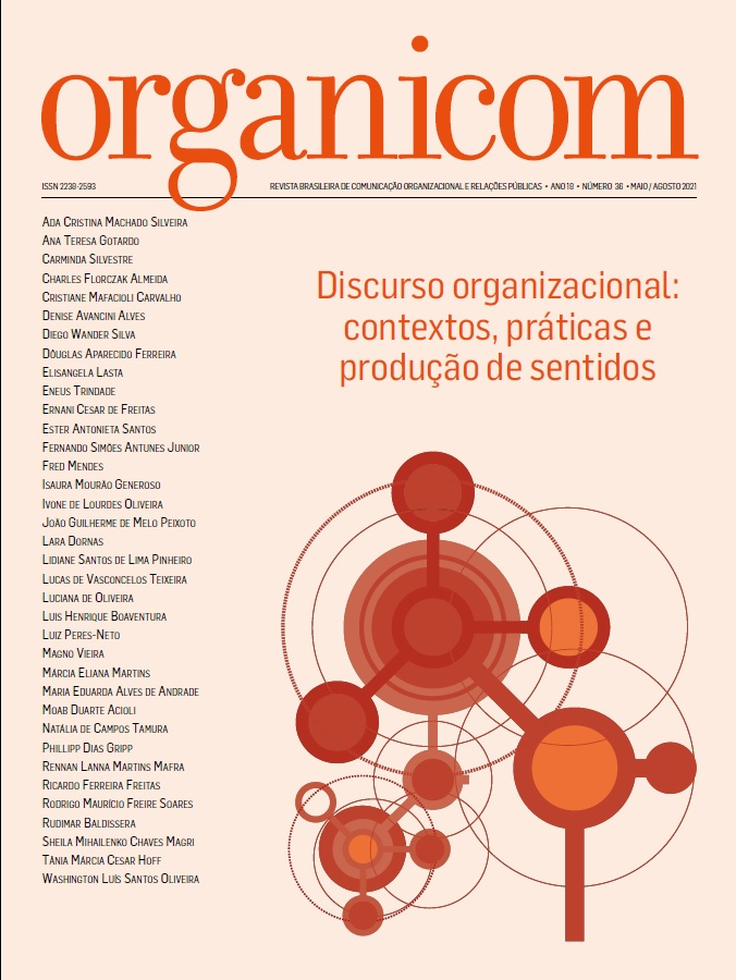 Visualizar v. 18 n. 36 (2021): Discurso organizacional: contextos, práticas e produção de sentidos