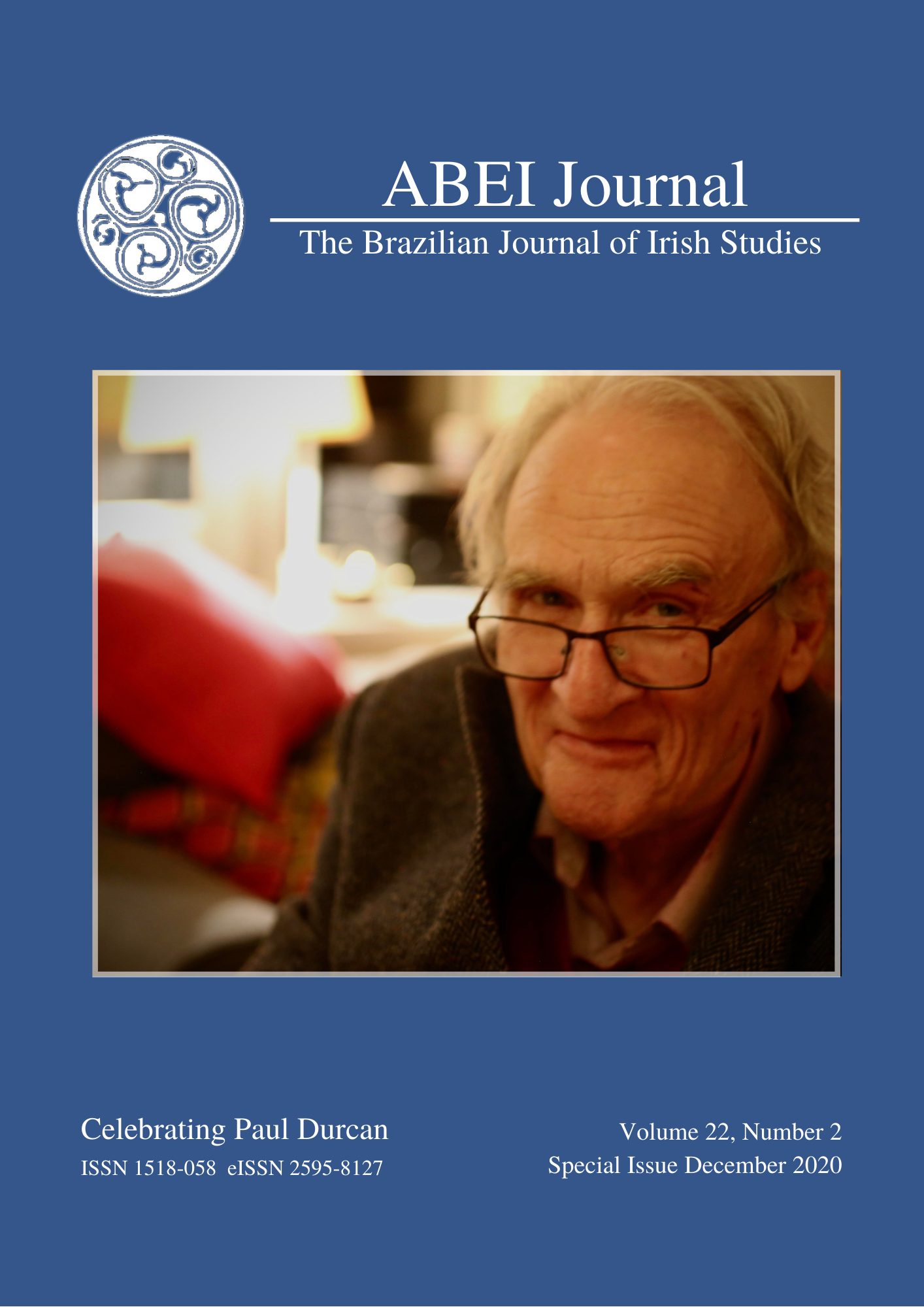 View Vol. 22 No. 2 (2020): ABEI Journal 22.2 —  Celebrating Paul Durcan on his 76th Birthday