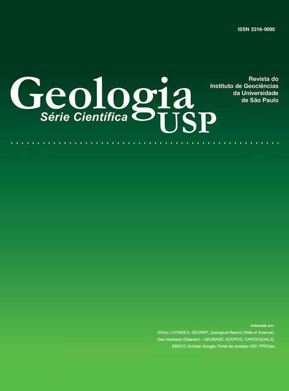Capa da Revista Geologia USP. Série Científica.