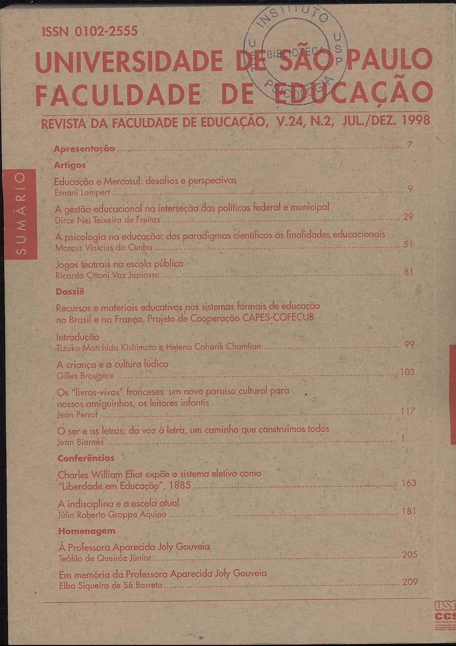 Visualizar v. 24 n. 2 (1998)