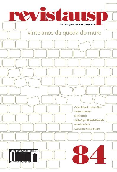 Visualizar n. 84 (2010): VINTE ANOS DA QUEDA DO MURO