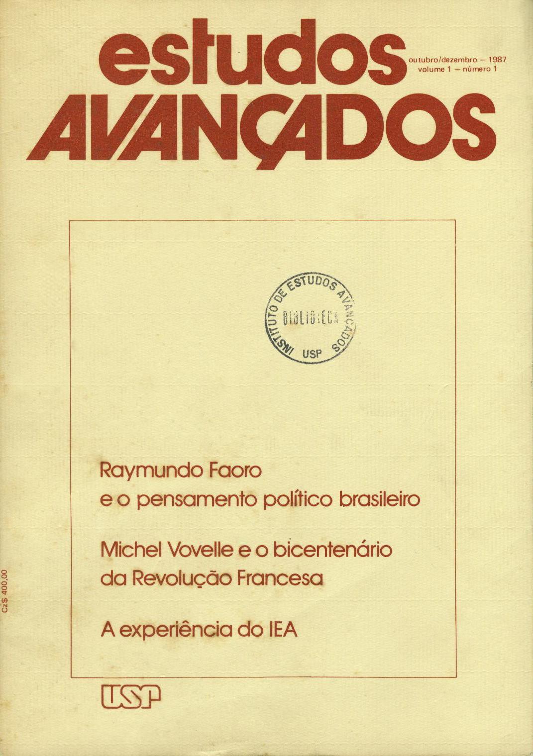 Visualizar v. 1 n. 1 (1987)