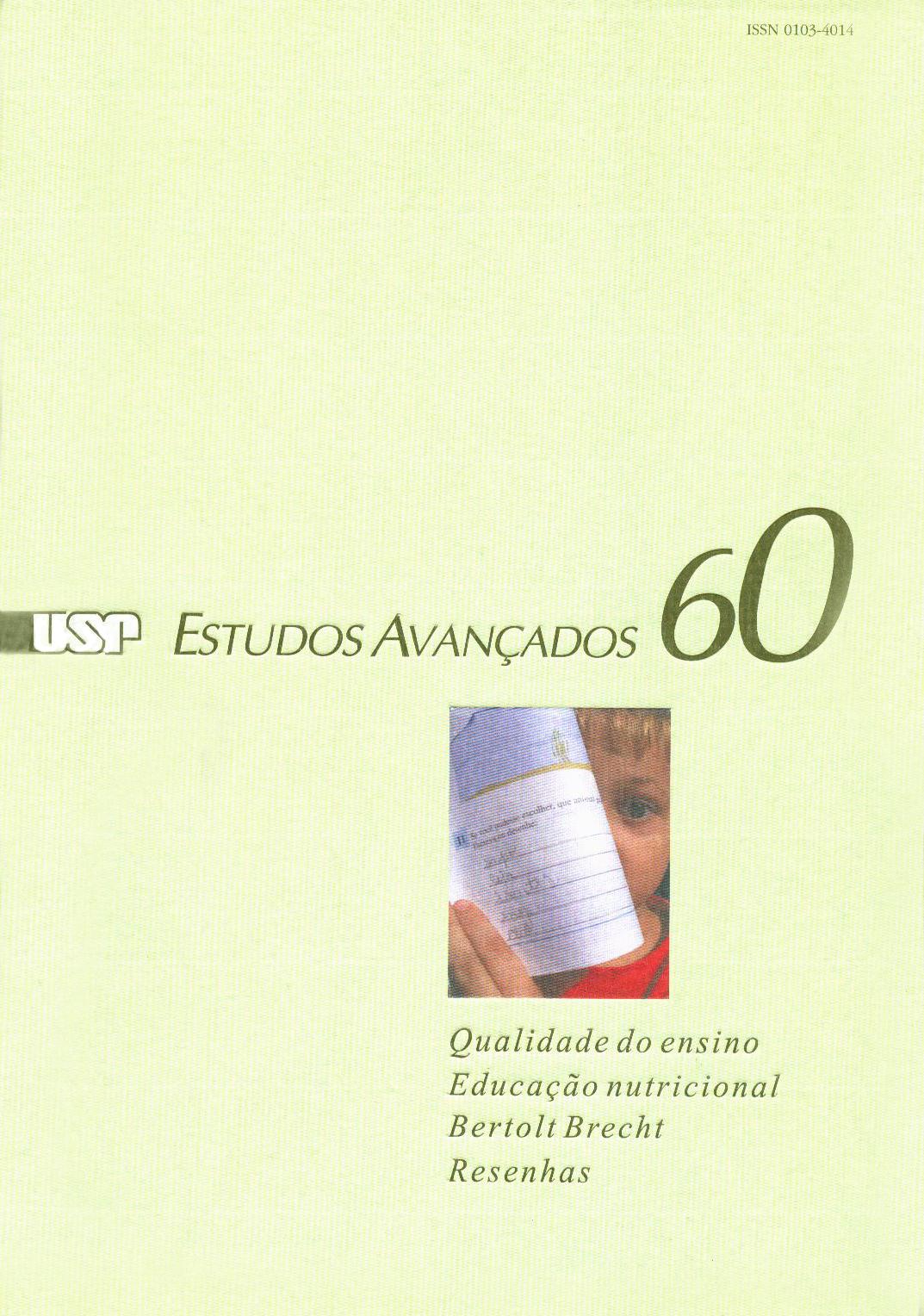 Visualizar v. 21 n. 60 (2007)