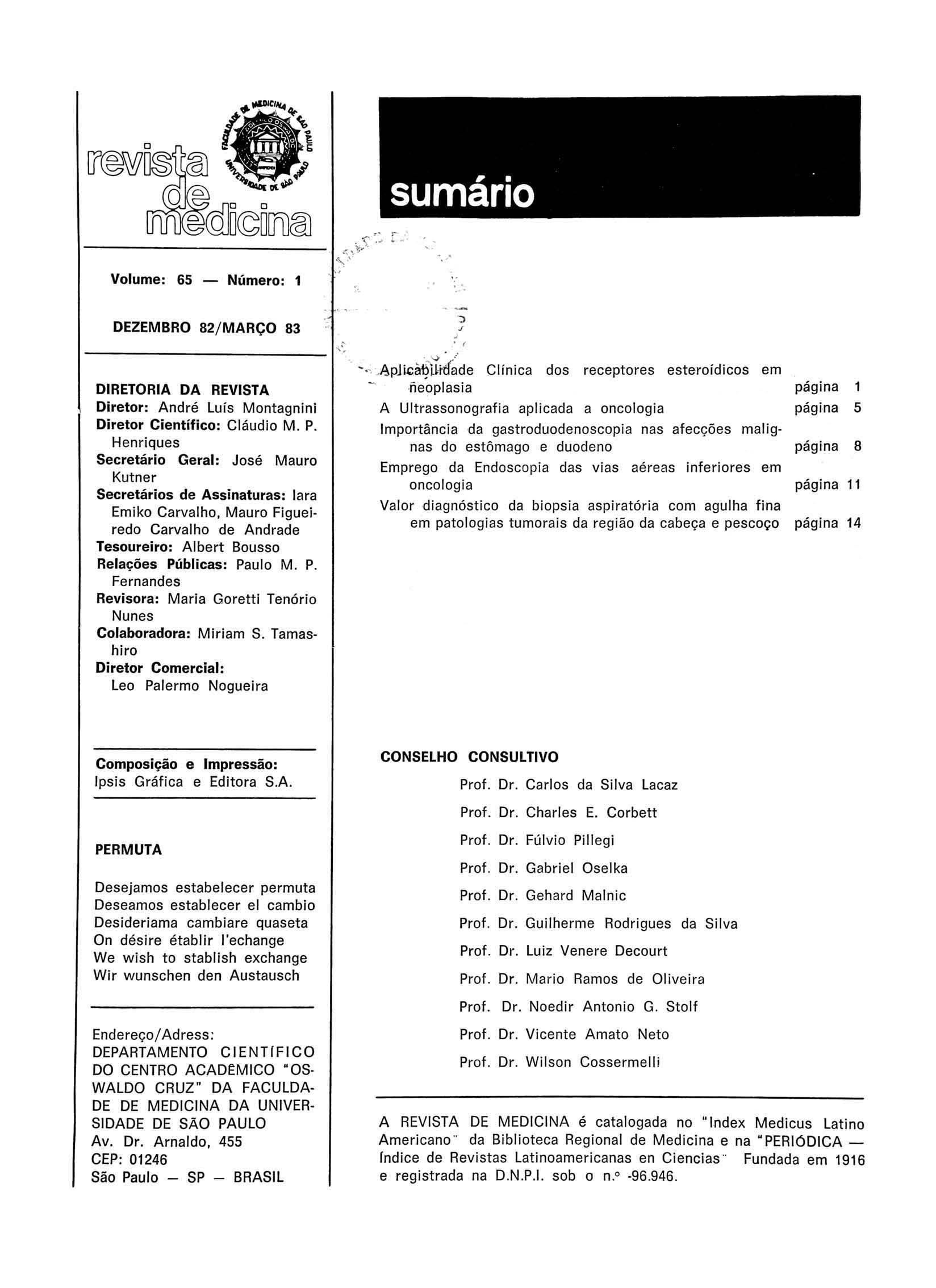 Visualizar v. 65 n. 1 (1983)