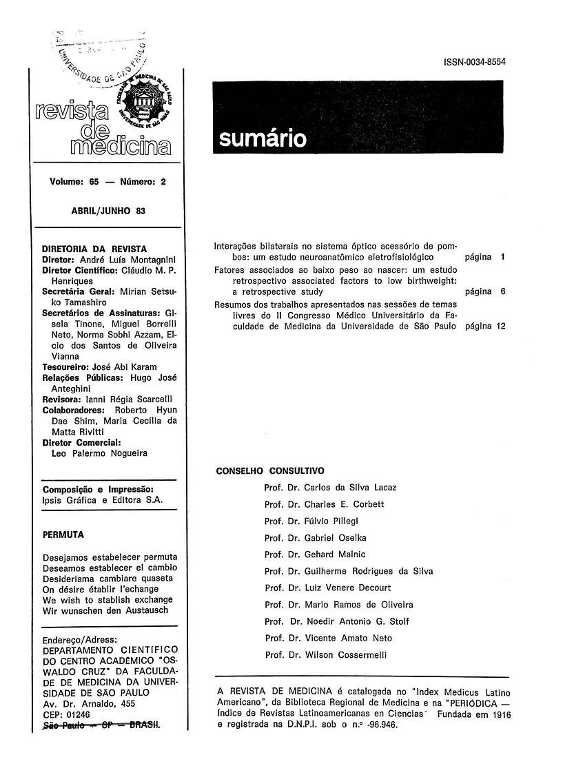Visualizar v. 65 n. 2 (1983)