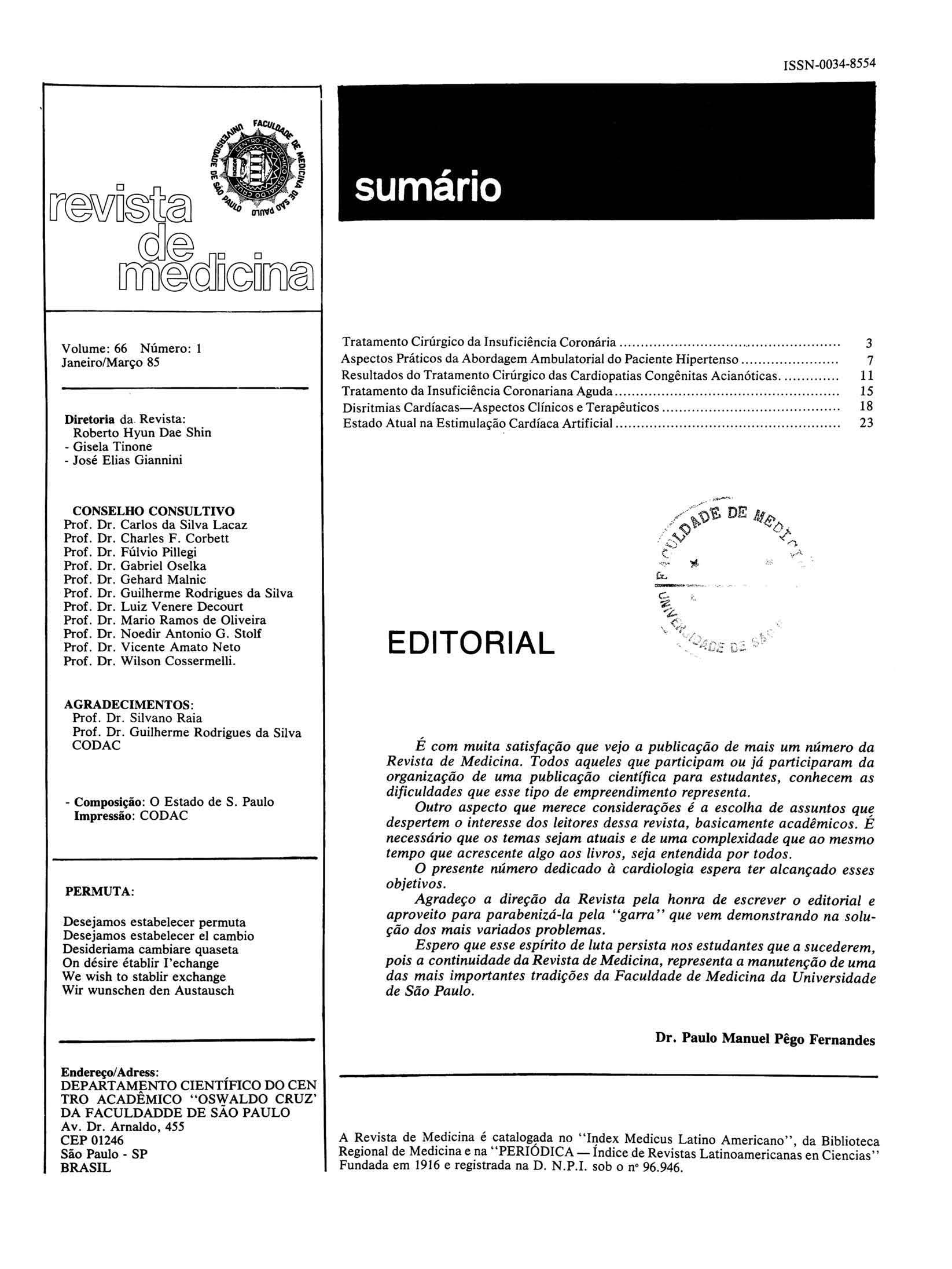 Visualizar v. 66 n. 1 (1985)