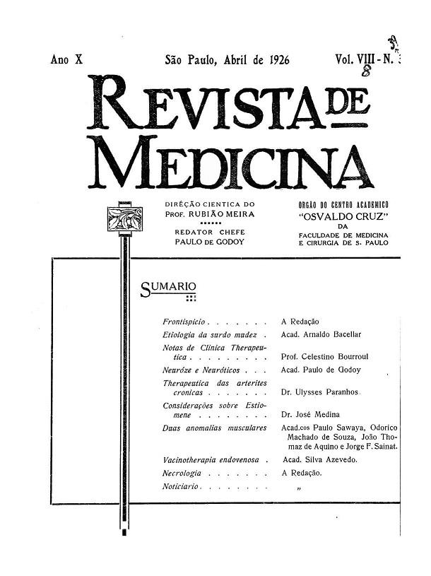 Visualizar v. 8 n. 39 (1926)