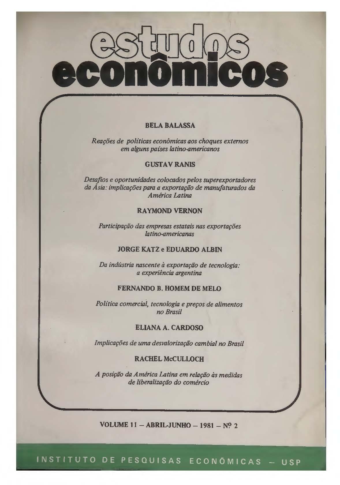 Visualizar v. 11 n. 2 (1981)
