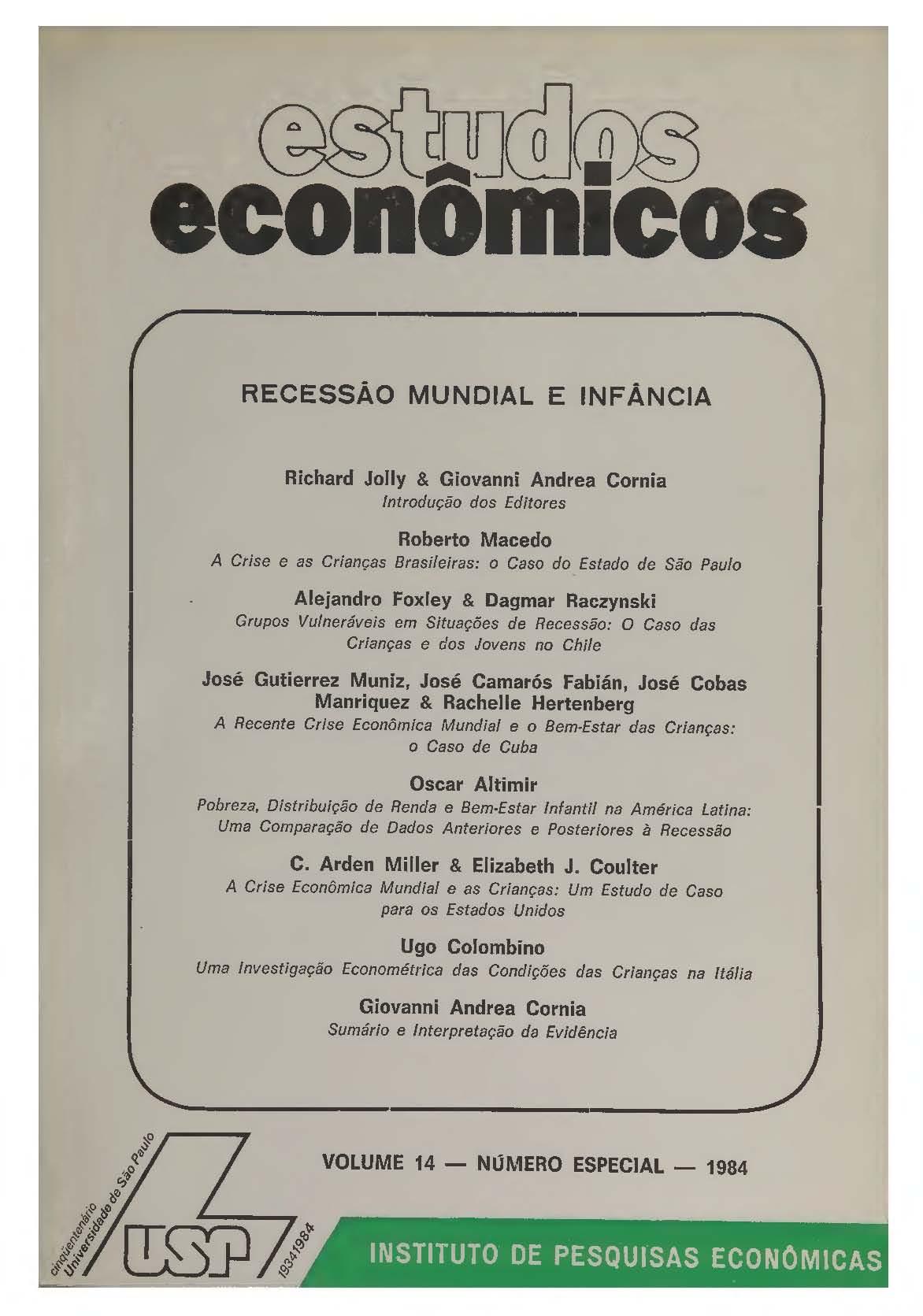 Visualizar v. 14 n. Especial (1984)