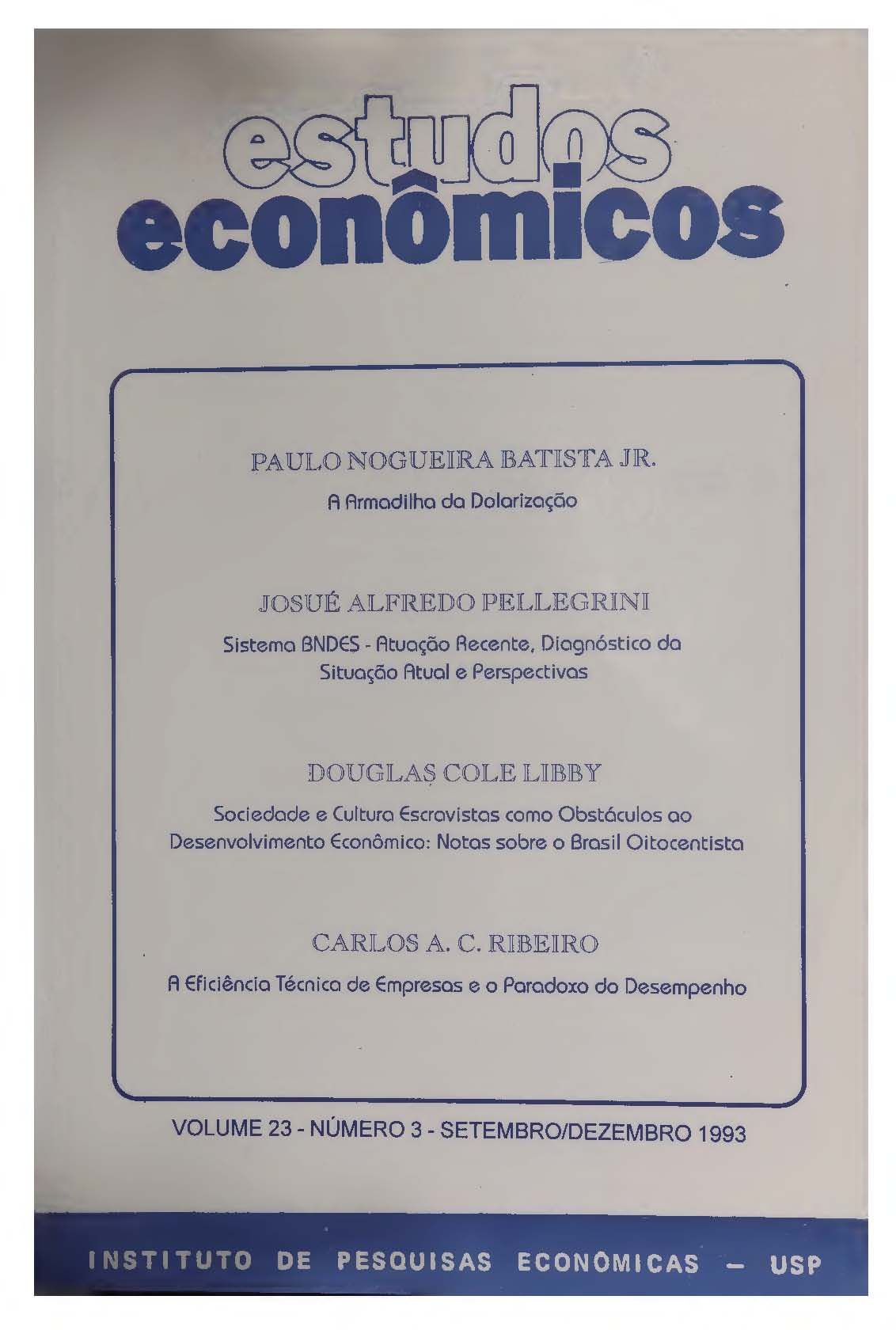 Visualizar v. 23 n. 3 (1993)