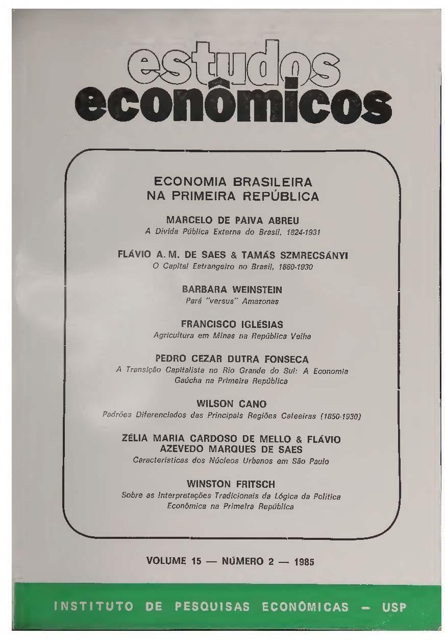 Visualizar v. 15 n. 2 (1985)