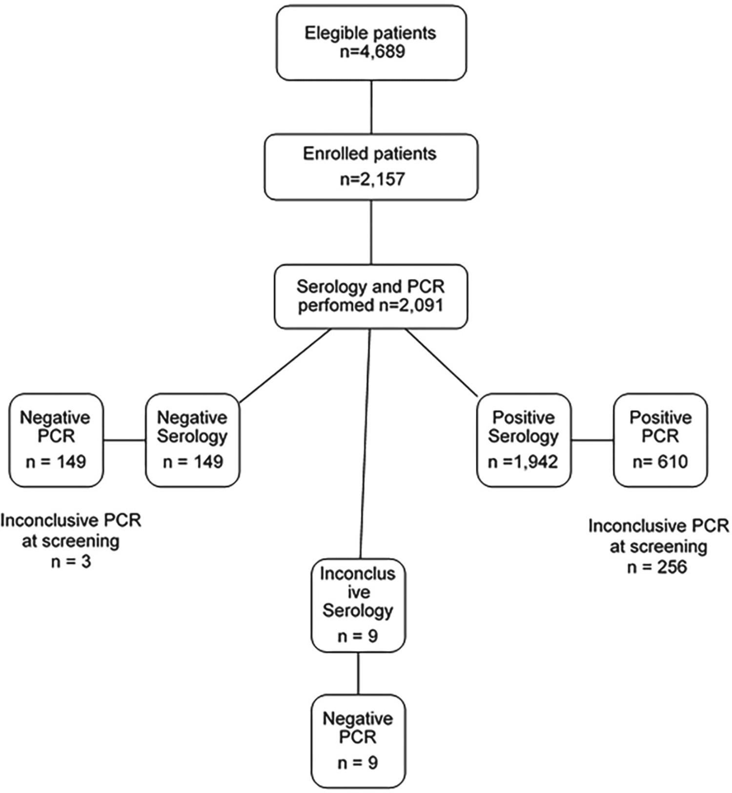 Serological and PCR results of studied patients.
