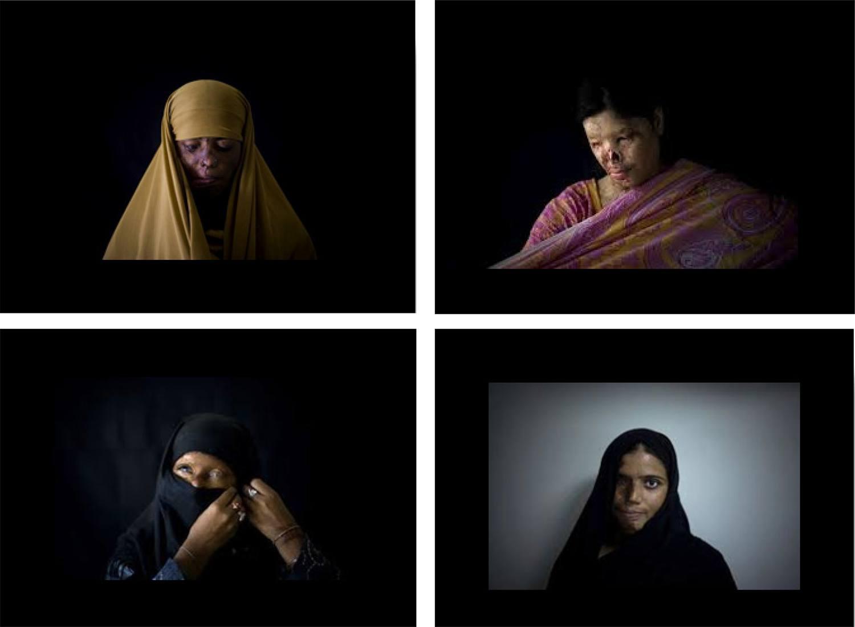 Paquistanesas fotografadas pelo espanhol Emílio Morenatti, 2009.