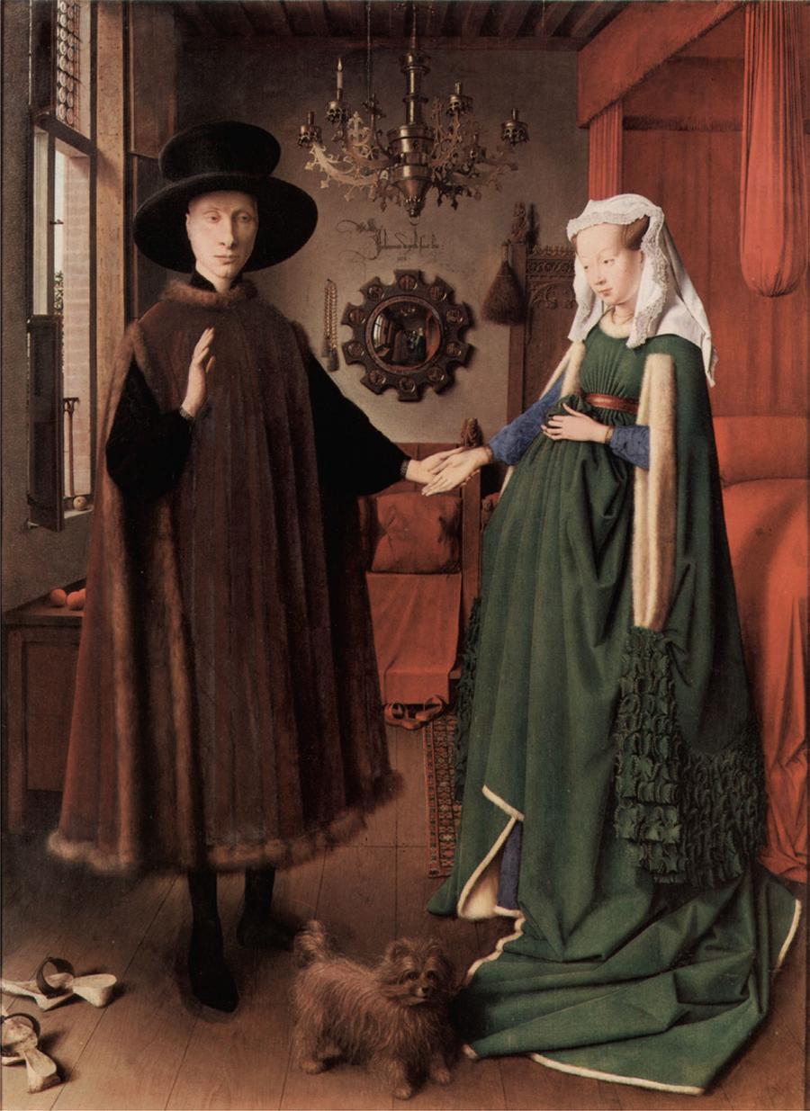 Jan Van Eyck, Casal Arnolfini, Bruges, 1434.