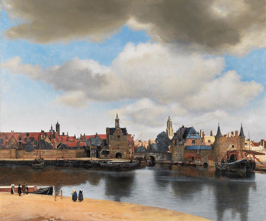 Johannes Vermeer, Vista de Delft, Delft, c.1660-1661.
